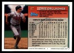 1994 Topps Traded #8 T Dave Gallagher  Back Thumbnail