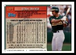 1994 Topps Traded #107 T Stan Javier  Back Thumbnail