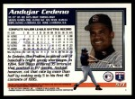 1995 Topps Traded #57 T Andujar Cedeno  Back Thumbnail