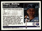 1995 Topps Traded #76 T Roger Bailey  Back Thumbnail