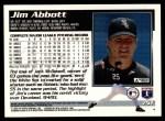 1995 Topps Traded #75 T Jim Abbott  Back Thumbnail