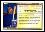 1999 Topps Traded #17 T Corey Patterson  Back Thumbnail