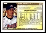 1999 Topps Traded #2 T Mark Harriger  Back Thumbnail