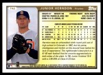 1999 Topps Traded #42 T Junior Herndon  Back Thumbnail
