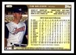 1999 Topps Traded #103 T Tim Belcher  Back Thumbnail
