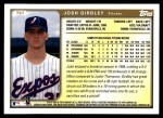 1999 Topps Traded #67 T Josh Girdley  Back Thumbnail