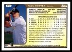 1999 Topps Traded #19 T Paul Hoover  Back Thumbnail
