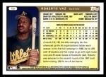 1999 Topps Traded #9 T Roberto Vaz  Back Thumbnail