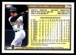 1999 Topps Traded #119 T Randy Velarde  Back Thumbnail