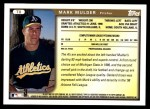 1999 Topps Traded #8 T Mark Mulder  Back Thumbnail