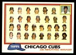 1981 Topps #676   Cubs Team Checklist Front Thumbnail