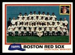1981 Topps #662   Red Sox Team Checklist Front Thumbnail