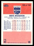 1986 Fleer #129  Mike Woodson  Back Thumbnail