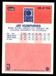 1986 Fleer #49  Jay Humphries  Back Thumbnail