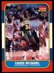1986 Fleer #72  Xavier McDaniel  Front Thumbnail