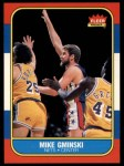 1986 Fleer #38  Mike Gminski  Front Thumbnail