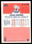1986 Fleer #47  Craig Hodges  Back Thumbnail