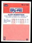 1986 Fleer #92  Alvin Robertson  Back Thumbnail