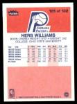 1986 Fleer #125  Herb Williams  Back Thumbnail
