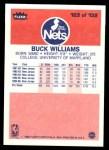 1986 Fleer #123  Buck Williams  Back Thumbnail