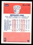 1986 Fleer #60  Bernard King  Back Thumbnail