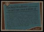 1977 Topps #216   -  Guy Lafleur Record Breaker - Longest Point-Scoring Streak Back Thumbnail
