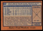 1978 Topps #126  Paul Moskau  Back Thumbnail