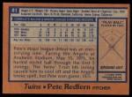 1978 Topps #81  Pete Redfern  Back Thumbnail