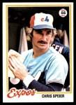 1978 Topps #221  Chris Speier  Front Thumbnail