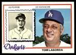 1978 Topps #189  Tommy Lasorda  Front Thumbnail