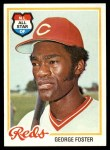 1978 Topps #500  George Foster  Front Thumbnail
