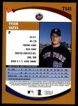 2002 Topps Traded #141 T Tyler Yates  Back Thumbnail