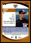 2002 Topps Traded #113 T Justin Reid  Back Thumbnail