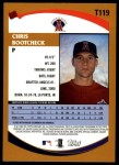 2002 Topps Traded #119 T Chris Bootcheck  Back Thumbnail