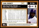 2002 Topps Traded #79 T Carl Everett  Back Thumbnail