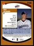 2002 Topps Traded #144 T Ben Howard  Back Thumbnail