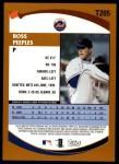 2002 Topps Traded #205 T Ross Peeples  Back Thumbnail