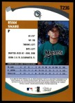 2002 Topps Traded #236 T Ryan Snare  Back Thumbnail