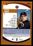 2002 Topps Traded #151 T Justin Huber  Back Thumbnail