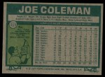 1977 Topps #219  Joe Coleman  Back Thumbnail