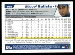 2004 Topps Traded #65 T Miguel Batista  Back Thumbnail