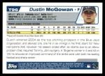 2004 Topps Traded #96 T Dustin McGowan  Back Thumbnail