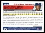 2004 Topps Traded #88 T Erick San Pedro  Back Thumbnail