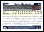 2004 Topps Traded #98 T Denny Bautista  Back Thumbnail