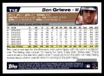 2004 Topps Traded #12 T Ben Grieve  Back Thumbnail
