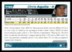 2004 Topps Traded #192 T  -  Chris Aguila First Year Back Thumbnail