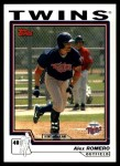 2004 Topps Traded #188 T  -  Alex Romero First Year Front Thumbnail
