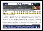 2004 Topps Traded #186 T  -  Jeff Salazar First Year Back Thumbnail
