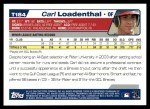 2004 Topps Traded #184 T  -  Carl Loadenthal First Year Back Thumbnail