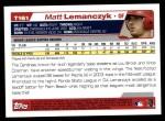 2004 Topps Traded #161 T  -  Matt Lemanczyk First Year Back Thumbnail